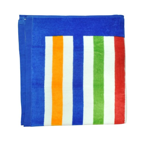 i play. Unisex-baby Infant Beach Towel, Blue Multi Stripe, 27 Inchx55 Inch