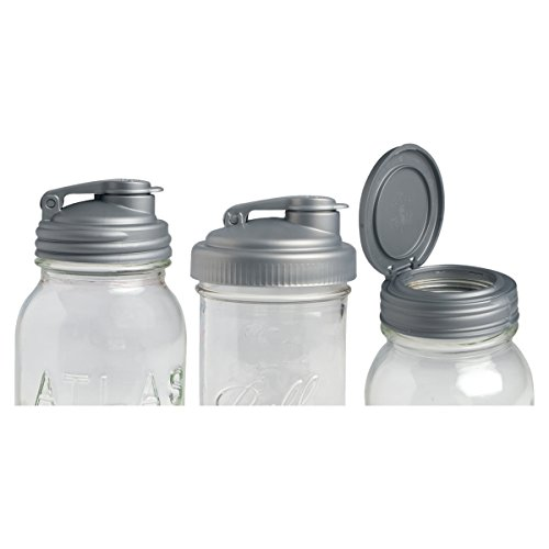 reCAP Mason Jars TRIO Variety Sampler Pack, Canning Jar Lids, Silver - Jars Not Included (Recap Lids For Mason Jars compare prices)