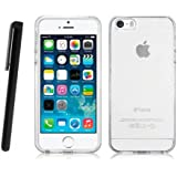 Apple iPhone 4 / 4G / 4S Clear / Transparent Tpu Jelly Rubber Gel Skin Case Cover Plus Screen Protector & Cleaning Cloth