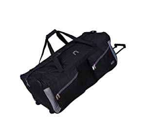 "Extra Large Wheeled Holdall Suitcase Luggage Bag 34"" (34 inch, Black)"