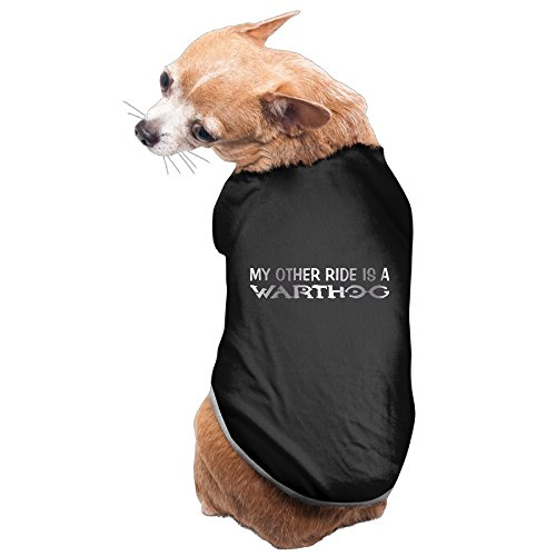 Black My Other Ride Is A WARTHOG Platinum Style Pet Dog T-shirt Coat