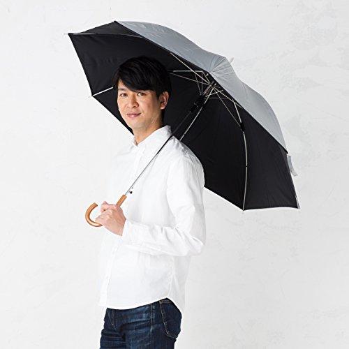 晴雨兼用日傘 直径106cm シルバー/ブラック