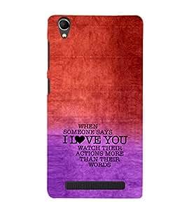 EPICCASE Someone says Love You Mobile Back Case Cover For Intex Aqua Power Plus (Designer Case)