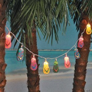 41eaRRvT9CL ten Plastic Flip Flop Party String Lights Beach Luau Evaluations