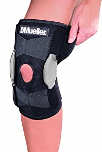 Mueller Adustable Hinged Knee Brace, One Size Fits Most, 1-Count Box by Mueller