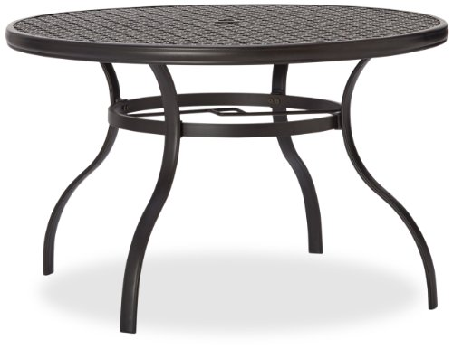 ... Strathwood Whidbey Cast Aluminum Round Dining Table