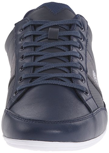 Lacoste Men's Chaymon 216 1 Fashion Sneaker, Navy/Light Grey, 11 M US