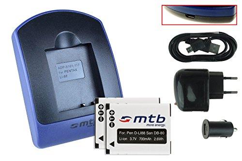 2-batterie-caricabatteria-usb-auto-corrente-pentax-d-li88-sanyo-db-l80-voir-liste