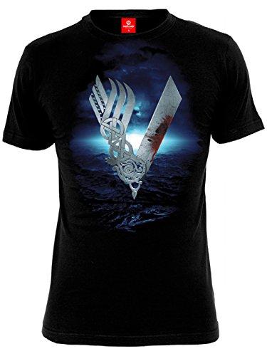 Vikings Heavy Sea T-Shirt nero S
