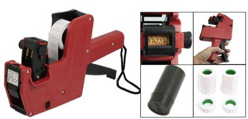 Rouge Plastique Couvercle 8 Chiffres Manuelle Commissions Prix étiqueteur Tag Pistolet avec Encre Roller