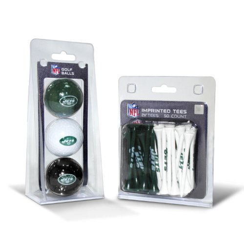 NFL New York Jets 3 Pack Golf Balls (50 Pack Team Tees) at Amazon.com