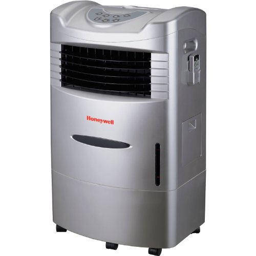 Honeywell CL201AE 42 Pt. Indoor Portable Evaporative Air Cooler with Remote Control, Silver