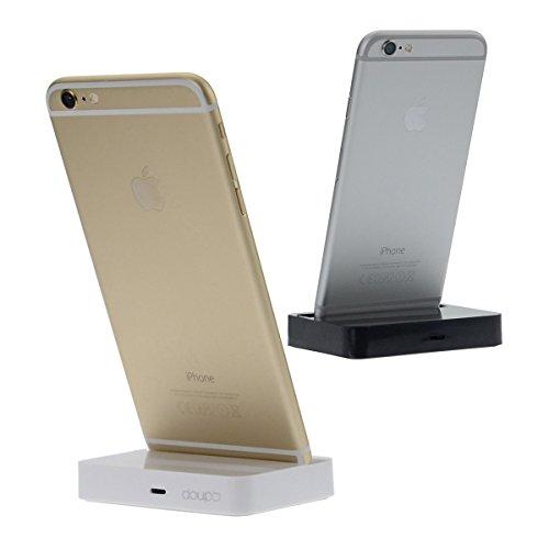 doupi® Dock Docking Station iPhone 7 / Plus, iPhone 6 6S / Plus, iPhone 5 5S 5C SE Lightning spina Caricabatterie La trasmissione dei dati titolare - Bianco