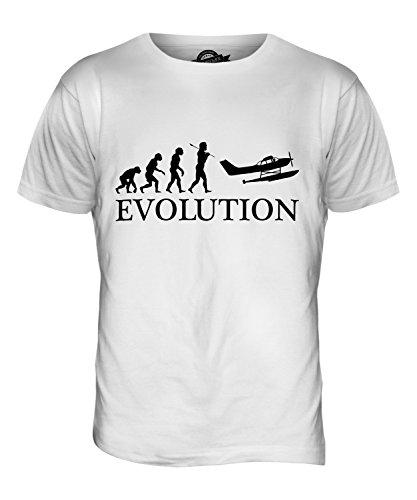 candymix-wasserflugzeug-evolution-des-menschen-herren-t-shirt-grosse-small-farbe-weiss