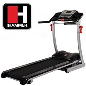 Hammer RPX Auto-Incline Treadmill - Black/Silver