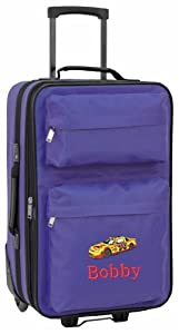 Personalised Kids luggage with wheels (royal blue)