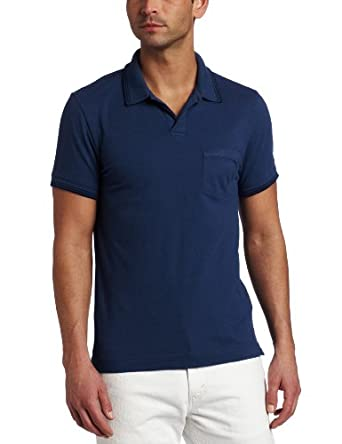 Calvin Klein Jeans Men's Cool Hand Pique Polo, Faded Navy, Medium