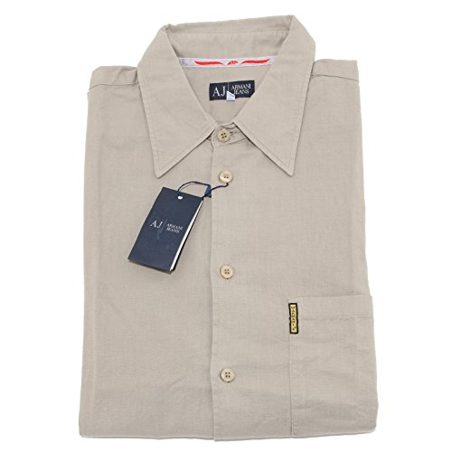 35765 camicia short sleeve ARMANI JEANS camicie uomo shirt men [XL]