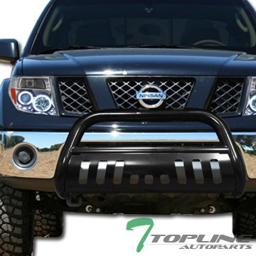 Topline Autopart Black HD Heavyduty Bull Bar Brush Push Front Bumper Grill Grille Guard Protector Tubular Tube For 05-11 Nissan Frontier 05-07 Pathfinder 05-08 Xterra (2012 Xterra Grill Guard compare prices)