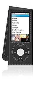 Belkin Leather Sleeve Case Cover for Apple iPod Nano 5G 5th Gen With Camera Opening - Black