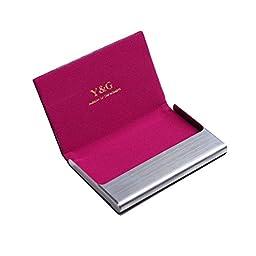 CC1004 Hot Pink Business Relationships Series Dress Men Comfort Boss Leather Card Holder Black