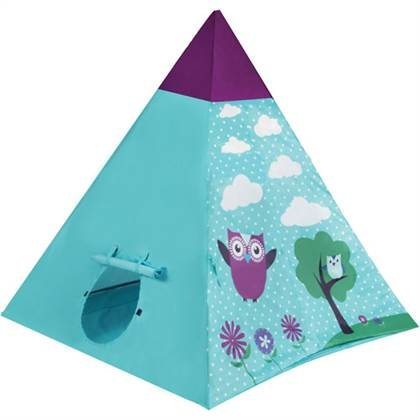 New Ozark Trail Kids' Teepee, Multi Color (Owl) front-86080