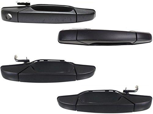 Chevy Tahoe Gmc Yukon Sierra Denali Xl 07 - 13 Front Rear Black Door Handle Set