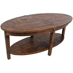 Alaterre Renew Reclaimed Oval Coffee Table, Natural