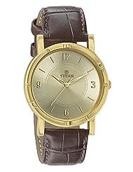 Titan Champagne Dial Men's Analog Watch - 1639YL03