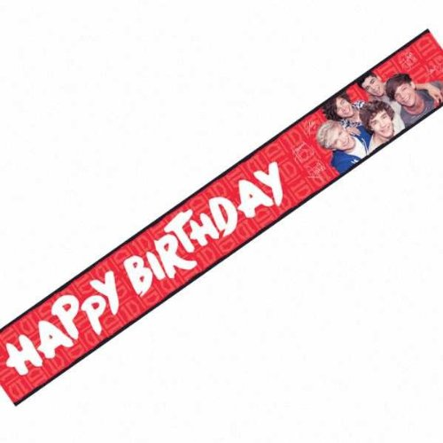 One Direction 1D Party Accessories Brands Banner Foil