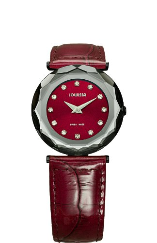 Jowissa Safira 99 Women's Quartz Watch with Red Dial Analogue Display and Red Leather Strap J1.019.M