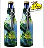 (2) Corona Extra Palm Tree Beer Bottle Koozies Cooler