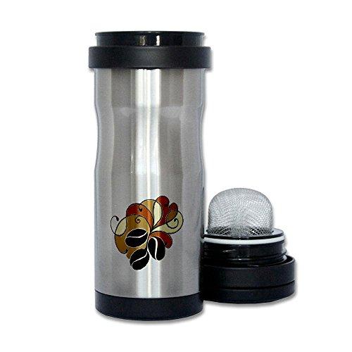 Thermos Tea Tumbler Bottle Coffee Bean Floral