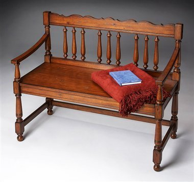 Butler Specialty Bench Old World Cherry Finish 5049102