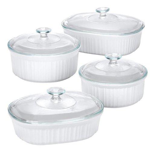 Corningware French White 8pc Set Ompact