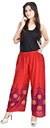 Soundarya Women Palazzo Pants-Red,PL15