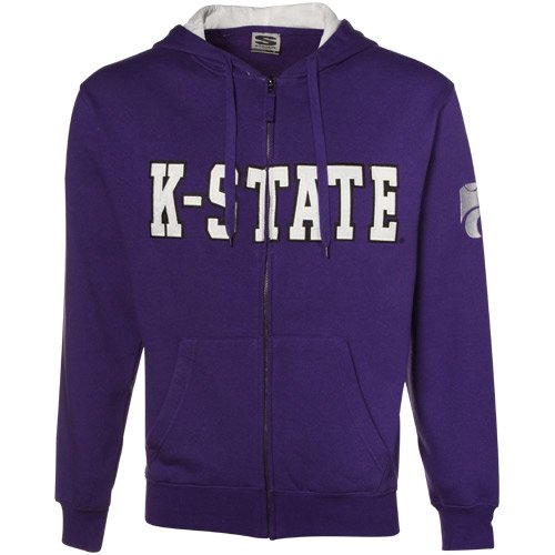 NCAA Kansas State Wildcats Purple Classic Twill Full Zip Hoodie Sweatshirt (Small) Amazon.com