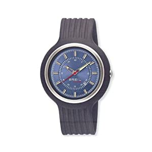 Breil Men's New Hip Hop Analogue Watch TW0428 with 47mm Stainless Steel Case, and Grey Resin Strap