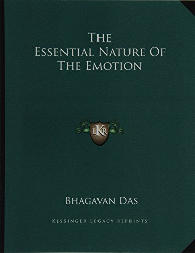 The Essential Nature of the Emotion