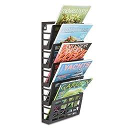 Safco Grid Magazine Rack- SAF4660BL