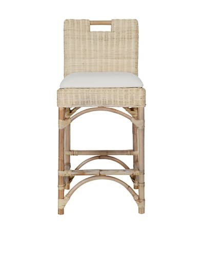 Jeffan Natural Rattan Counter Stool