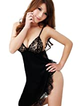 ANDI ROSE Sexy Lingerie Corset Babydoll Sheer Sleepwear Dress G-strings Set