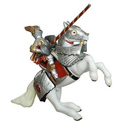 Armoured Reared Up Horse Red