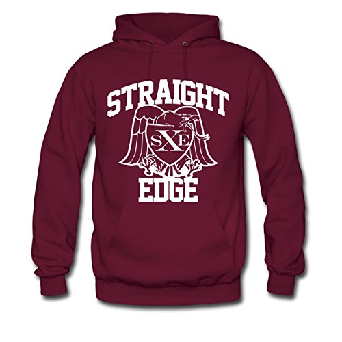 Straight Edge Men's Hoodie by Spreadshirt™, XL, burgundy (Straight Edge Hoodie compare prices)