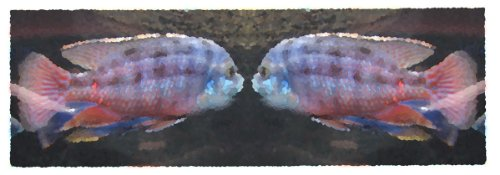 """""""I'D Love To Go Out With You!"""" Canvas Art Of Two Fish Making A Date, Giclée Print, Various Sizes"""