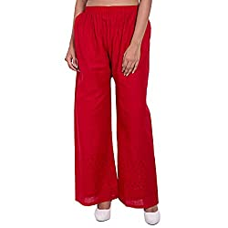 Diva Boutique Women's Palazoo (rc-18_Red_Large)