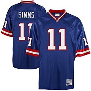 New York Giants Phil Simms Premier Throwback Mitchell Ness Replica Jersey by Mitchell & Ness