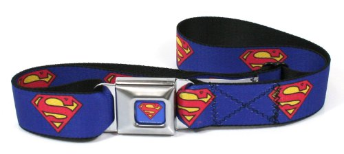 Buckle Down cintura per cintura di sicurezza, motivo: Superman, colore: blu, taglia unica