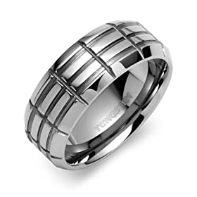Mens Tungsten Carbide Wedding Band Ring Size 11