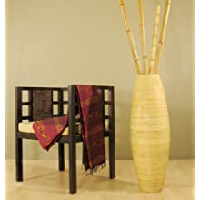 36 Inch Tall Cylinder Bamboo Floor Vase (Branches Not included) (Natural)